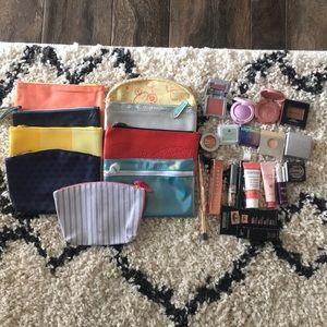 9 Ipsy makeup bags and makeup bundle